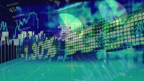 Stock market data moving all directions stock illustration