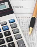 Stock market data research & analysis Stock Photo