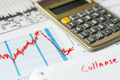 Stock market decline, the counting losses Stock Photo