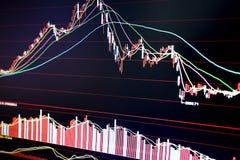 Stock Market Diagram stock images