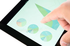 Stock market diagram on a tablet pc display royalty free stock photo