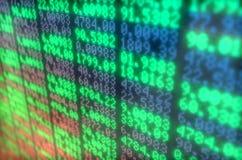 Stock Market Digital Board Royalty Free Stock Photography