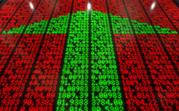 Stock Market Digital Board Royalty Free Stock Images