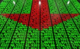 Stock Market Digital Board Stock Photo