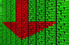 Stock Market Digital Board Stock Images