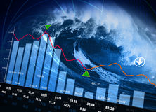 Stock Market Disaster Royalty Free Stock Photography