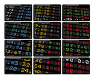 Stock market display boards Stock Images