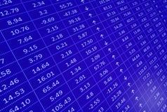 Stock market display Stock Photos