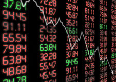 Stock Market Down Royalty Free Stock Images