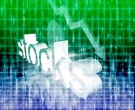 Stock market economy worsening Royalty Free Stock Image