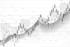 Stock market and exchange. Business Candle stick graph chart of stock market investment trading. Stock market data. Bullish point, Trend of graph. Vector Stock Photography