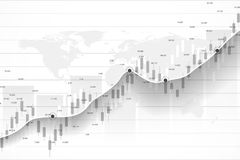 Stock market and exchange. Business Candle stick graph chart of stock market investment trading. Stock market data. Bullish point, Trend of graph. Vector Royalty Free Stock Images