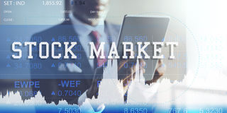 Stock Market Exchange Global Finance Shares Concept Royalty Free Stock Photography