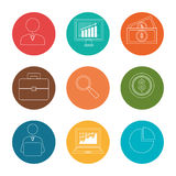 Stock market and exchange. Graphic icons,  illustration eps10 Royalty Free Stock Photo