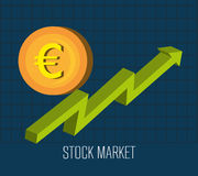 Stock market and exchange. Graphic icons,  illustration eps10 Royalty Free Stock Images