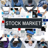 Stock Market Exchange International Economy Concept Royalty Free Stock Images