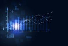 Stock Market Finance Diagram. Abstract stock market finance diagram on blue background Stock Photo