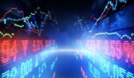 Stock market. Finance symbols of stock market Royalty Free Stock Image