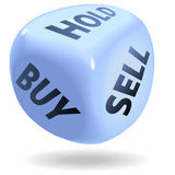 Stock Market Financial Dice trading Stock Photos