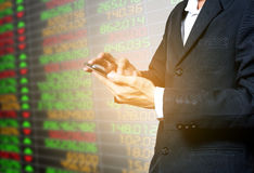 Stock market financial fund index by LED concept. Accounting ind Royalty Free Stock Images