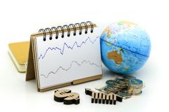Stock market or forex trading graph and candlestick chart with m stock images