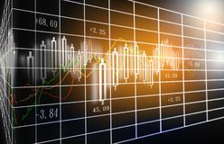 Stock market or forex trading graph and candlestick chart suitable for financial investment concept. stock photos