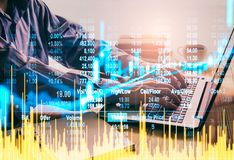 Stock market or forex trading graph and candlestick chart suitable for financial investment concept. Economy trends background for. Business idea and all art stock images