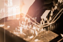 Stock market or forex trading graph and candlestick chart suitable for financial investment concept. Economy trends background for. Business idea and all art stock photos
