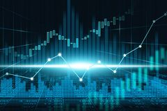 Stock market or forex trading graph in futuristic concept. Suitable for financial investment or Economic trends business idea and all art work design. Abstract Royalty Free Stock Image