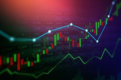 Stock market or forex trading graph in graphic concept. Suitable for financial investment or Economic trends business idea and all art work design. Abstract Royalty Free Stock Image
