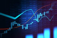 Stock market or forex trading graph in graphic concept. Suitable for financial investment or Economic trends business idea and all art work design. Abstract Royalty Free Stock Photo