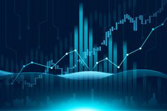 Stock market or forex trading graph in graphic concept. Suitable for financial investment or Economic trends business idea and all art work design. Abstract Royalty Free Stock Photos