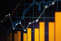 Stock market or forex trading graph in graphic concept. Suitable for financial investment or Economic trends business idea and all art work design. Abstract Stock Photography