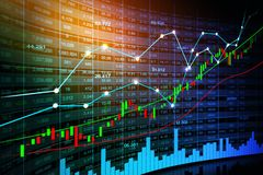 Stock market or forex trading graph in graphic concept. Suitable for financial investment or Economic trends business idea and all art work design. Abstract Stock Photos