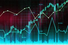 Stock market or forex trading graph in graphic concept. Suitable for financial investment or Economic trends business idea and all art work design. Abstract Stock Photo