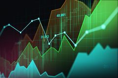 Stock market or forex trading graph in graphic concept. Suitable for financial investment or Economic trends business idea and all art work design. Abstract Royalty Free Stock Images