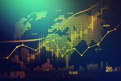 Stock market or forex trading graph in graphic concept. Suitable for financial investment or Economic trends business idea and all art work design. Abstract Royalty Free Stock Photography