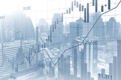 Stock market or forex trading graph in graphic double exposure. Concept suitable for financial investment or Economic trends business idea and all art work Royalty Free Stock Images