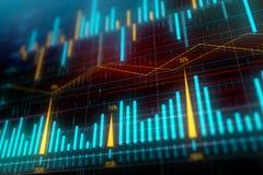 Stock market graphs vector illustration
