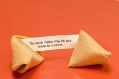 Stock Market Fortune Cookie Royalty Free Stock Photo