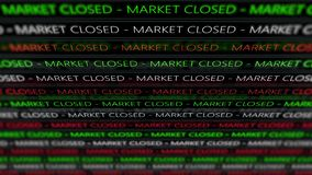 Stock Market Futuristic Ticker - Marcket Closed - Angle 1. 