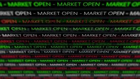 Stock Market Futuristic Ticker - Marcket open - Angle 1. 