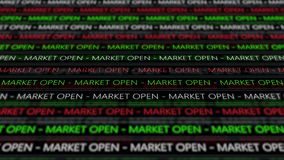 Stock Market Futuristic Ticker - Marcket open - Angle 1 - Green Digital. 