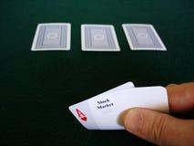 Stock Market Gamble. Gambling on the Stock Market Stock Photography