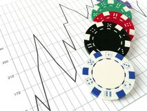 Stock Market Gamble Royalty Free Stock Photos