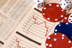 Stock Market Gamble Stock Image