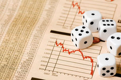 Stock Market Gamble Royalty Free Stock Photo