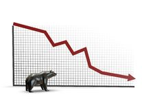 Stock market going down, bear market Stock Images