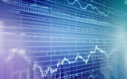 Stock market graph. An illustrated stock market graph or chart Stock Image