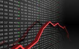 Stock market graph. A background of a stock market chart Royalty Free Stock Photo
